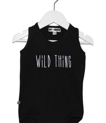 scom baby onesie wild thing black