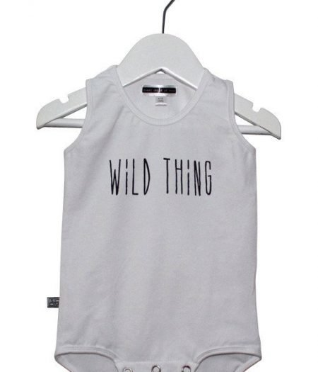 scom baby onesie wild thing white