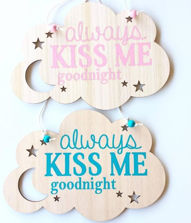 gorgeous by carly always kiss me goodmight blue and pink