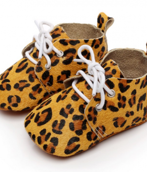 baby jungle boots mustard leopard