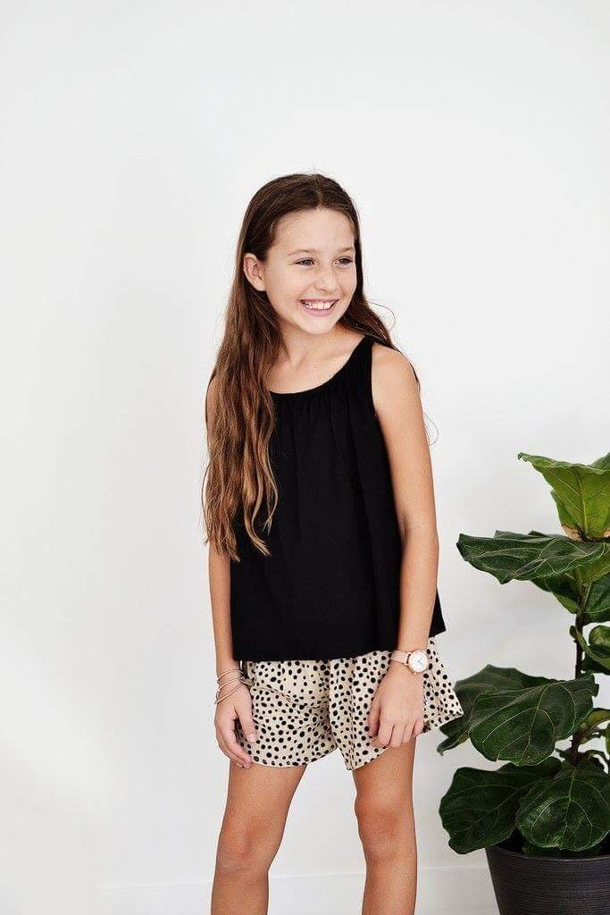 Butterfly Top Black Front