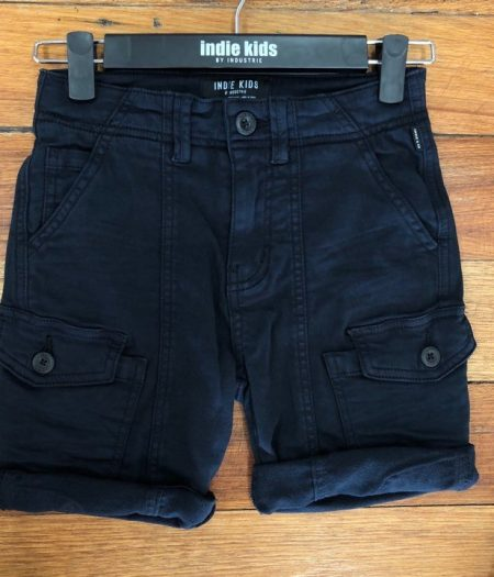 indie kids navy cargo shorts