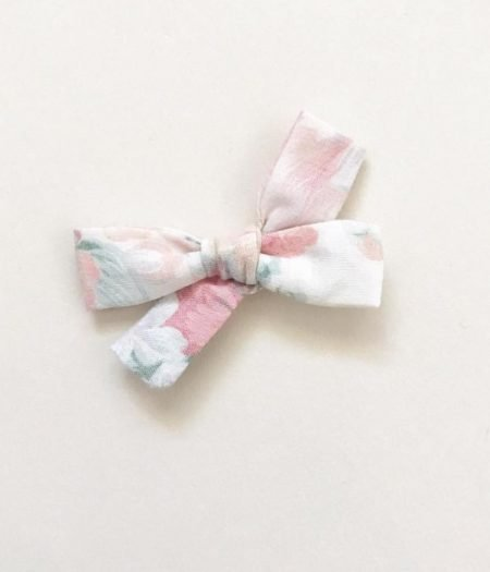 mae and rae pink floral bow