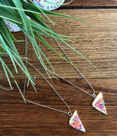 saturday lollipop fairy bread necklace