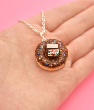 Doughnut time necklace