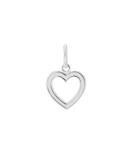 White Heart Outline Charm