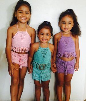 cinta child halter & shorts lt pink