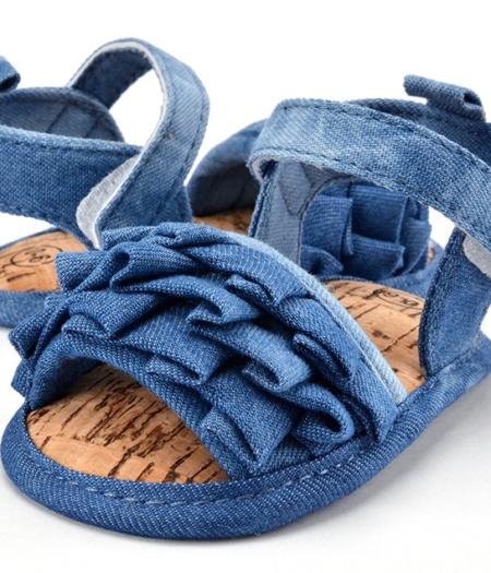 Ruffle Denim Shoes 2
