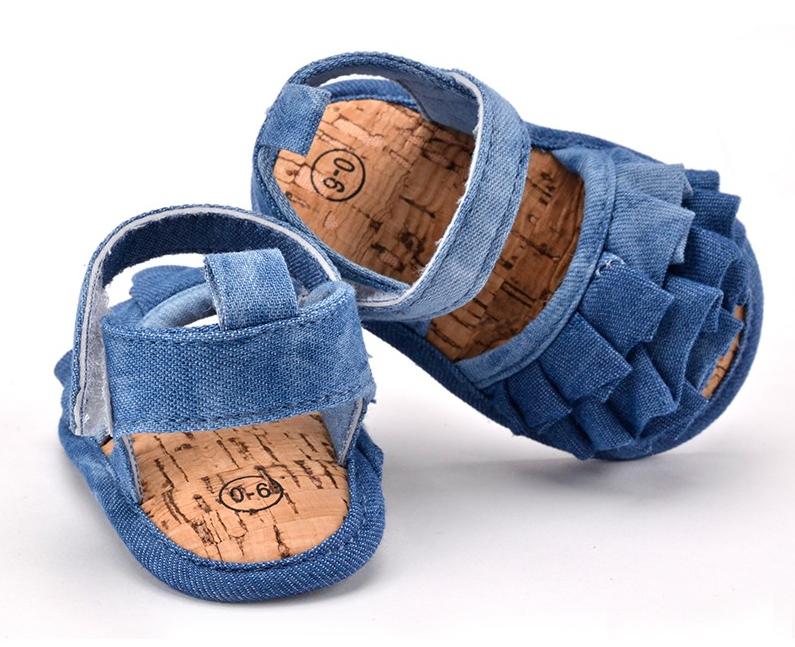 Ruffle Denim Shoes 3