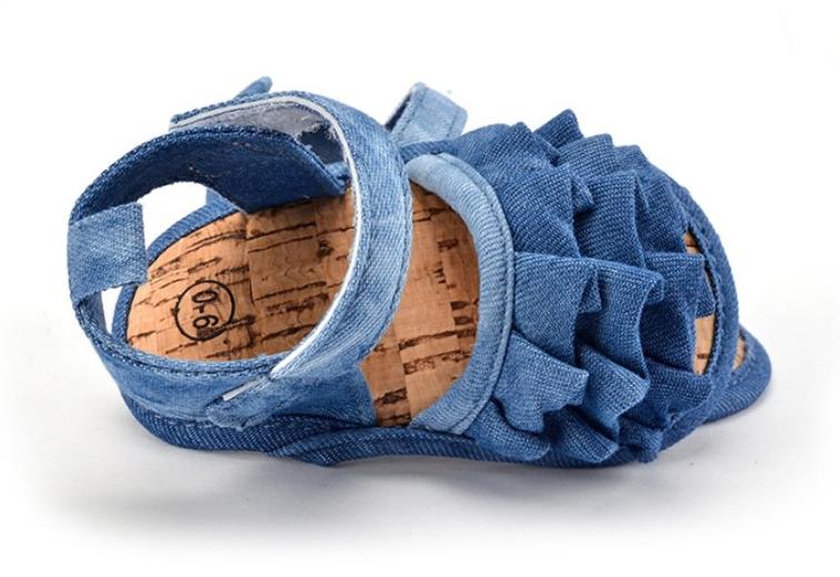 Ruffle Denim Shoes 4