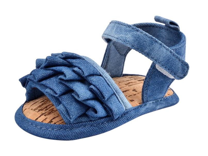 Ruffle Denim Shoes