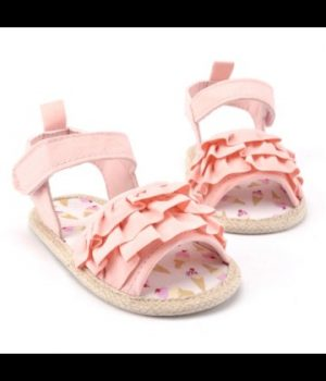 Ruffle Pink Shoes