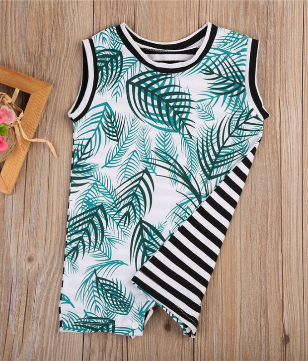 Jungle Stripe Romper1