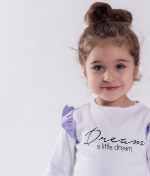 Aster & Oak Dream A Little Dream LS Flutter Tee