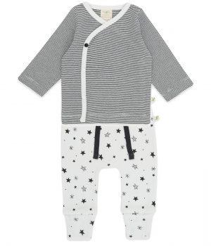 Kimono Tee Set1 – Graphite Stripes & Intergalactic