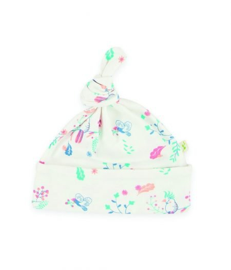 Knotted beanie – Floral Garden