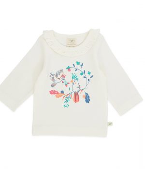 Round Neck Tee with Frill – Floral Garden