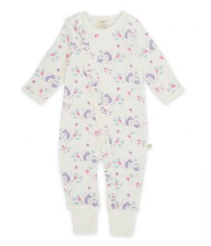 Zipsuit – Into the woods snow white trim