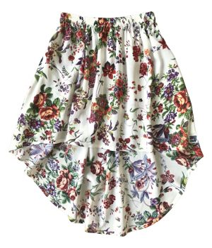 Billy Ray Skirt Vintage Ivory Floral 1