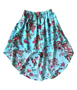 Billy Ray Skirt Vintage Turquoise Floral 1