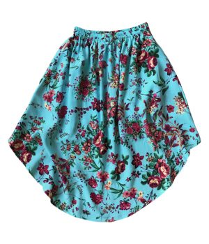 Billy Ray Skirt Vintage Turquoise Floral 3