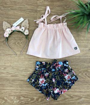 scom navy garden bella shorts