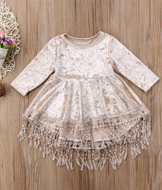 Velvet Tassel Dress