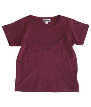 Sweet Child Block Logo Tee Merlot 1