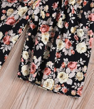 Black Floral Wide Leg Jumpsuit2