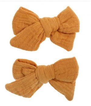 Bonnie & Harlo clips mustard