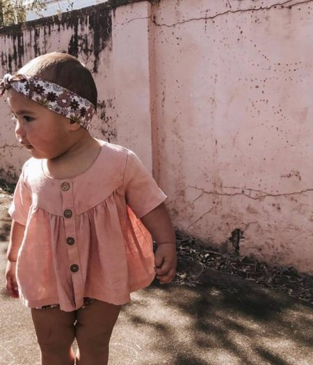 Bonnie & Harlo retro floral head wrap