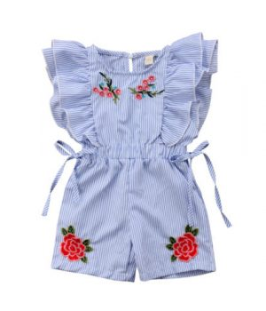 Embroidered Rose Playsuit