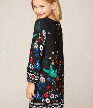 Printed Peasant Dress1