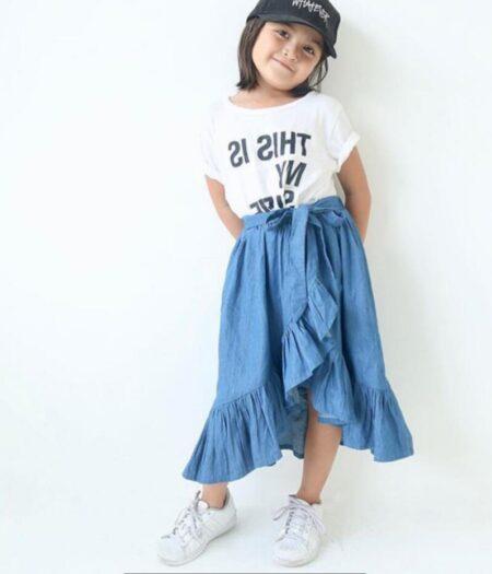 Ruffle Denim Skirt1
