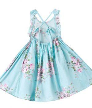 Floral Dress Blue Back