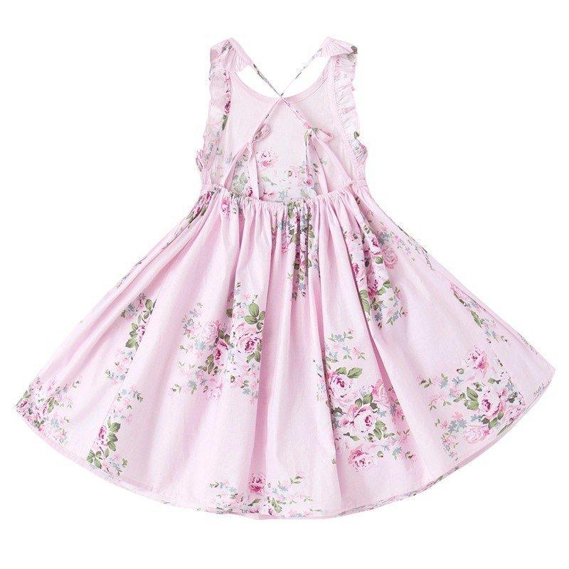 Floral Dress Pink Back
