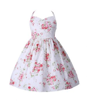 Floral Dress White Rose