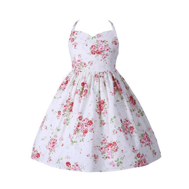 Floral Dress White Rose