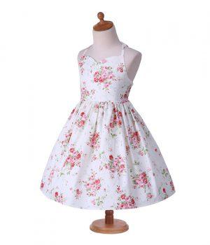 Floral Dress White Rose1