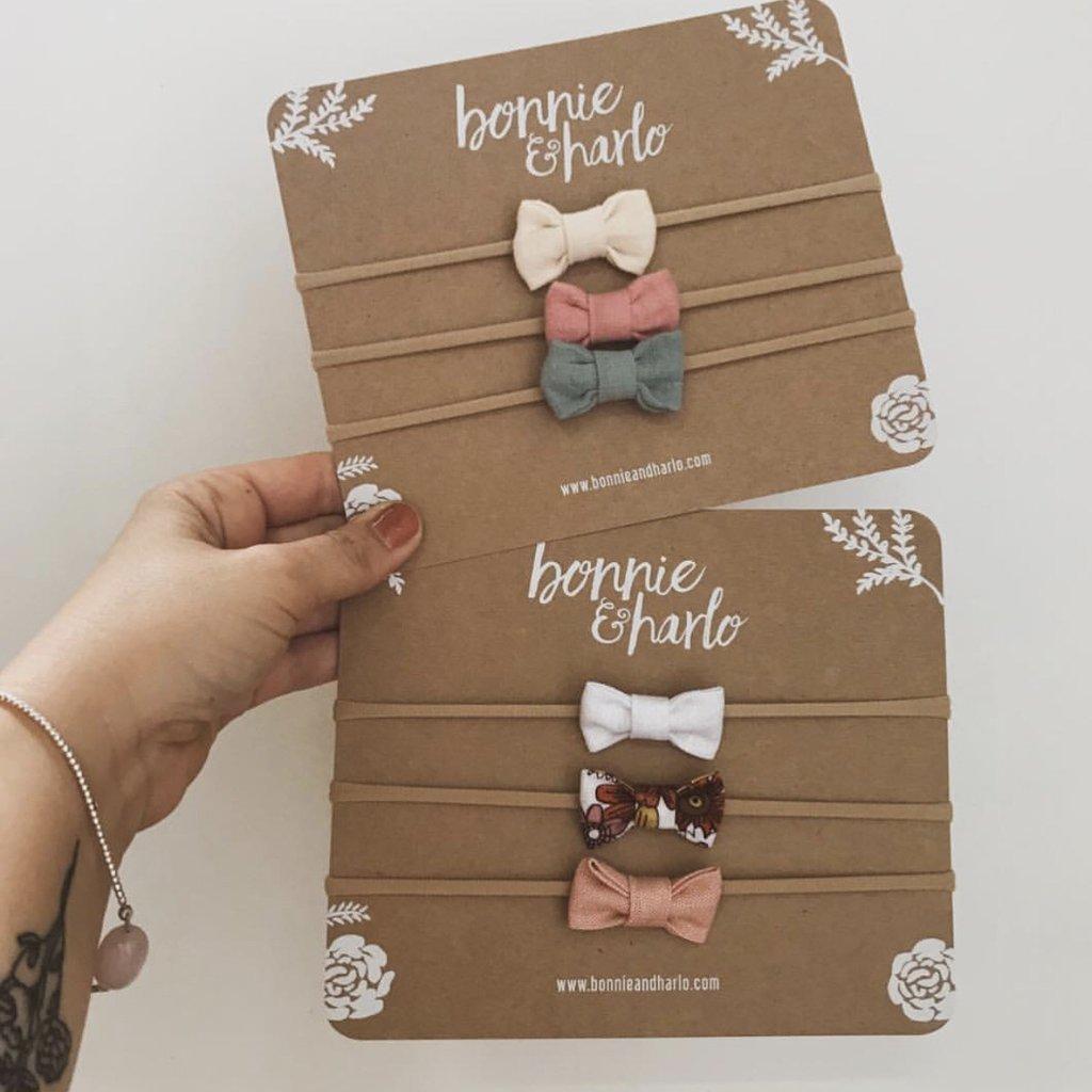 Petite Bow Packs – Muslin or Linen