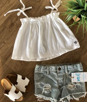 denim distressed shorts light medium