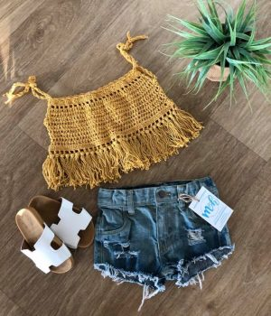 denim distressed shorts med dark