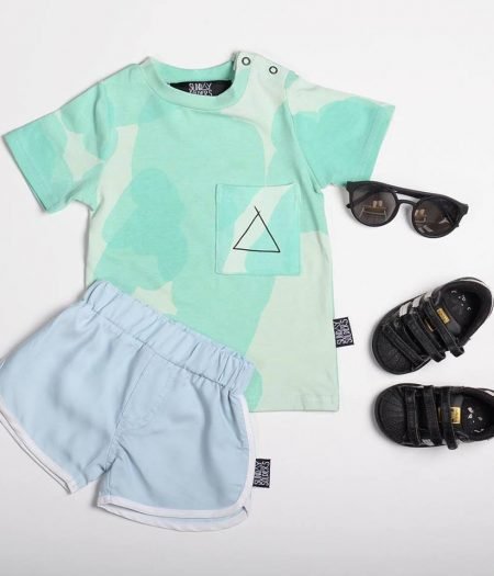 sunday soldiers mint tee flatlay