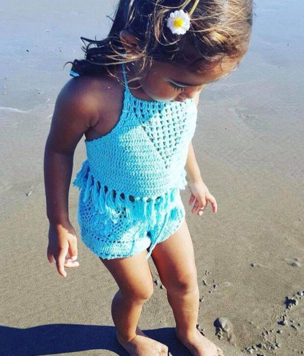Crochet Set Blue