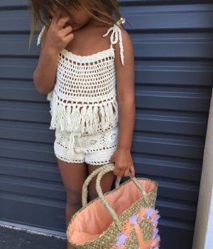 Crochet Shorts Cream