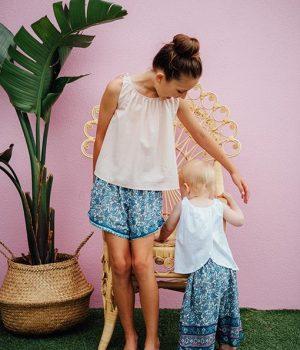 Bella Shorts Indah Blue 2
