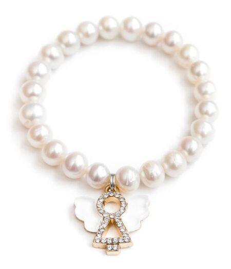 lauren hinley angel pearl bracelet