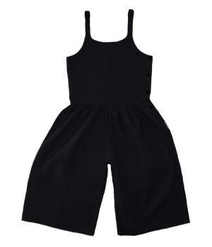 linen jumpsuit black
