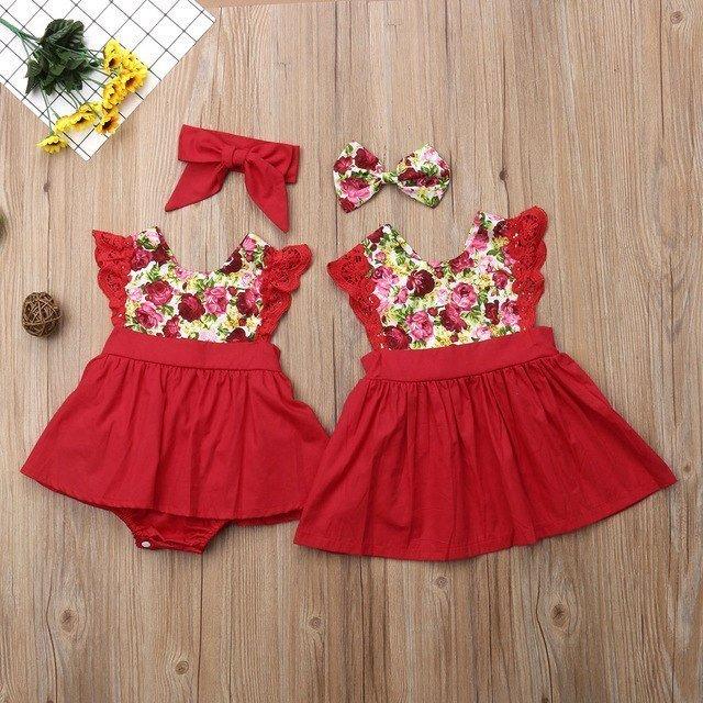 Christmas Flutter Sleeve Romper & Dress