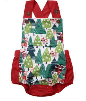 Christmas Trees Sunsuit